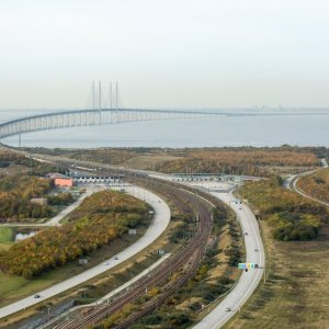 Øresund brücke dänemark schweden oresund verbindung naturschutzgebiet