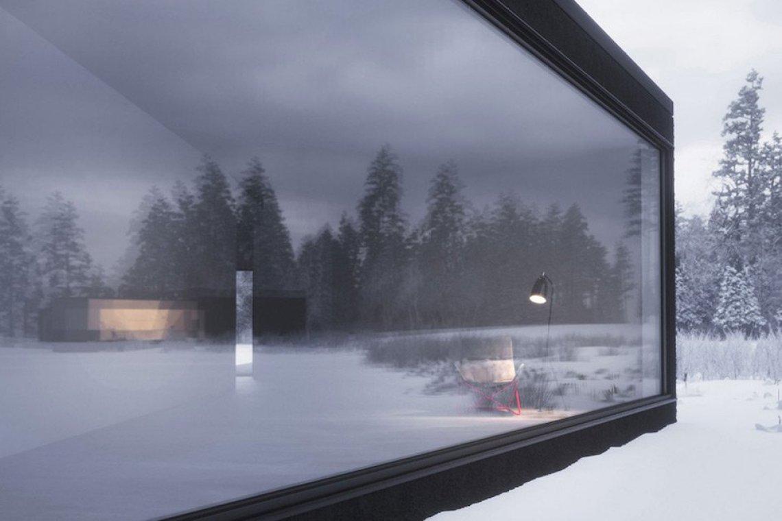 twin houses wojr schnee landschaft