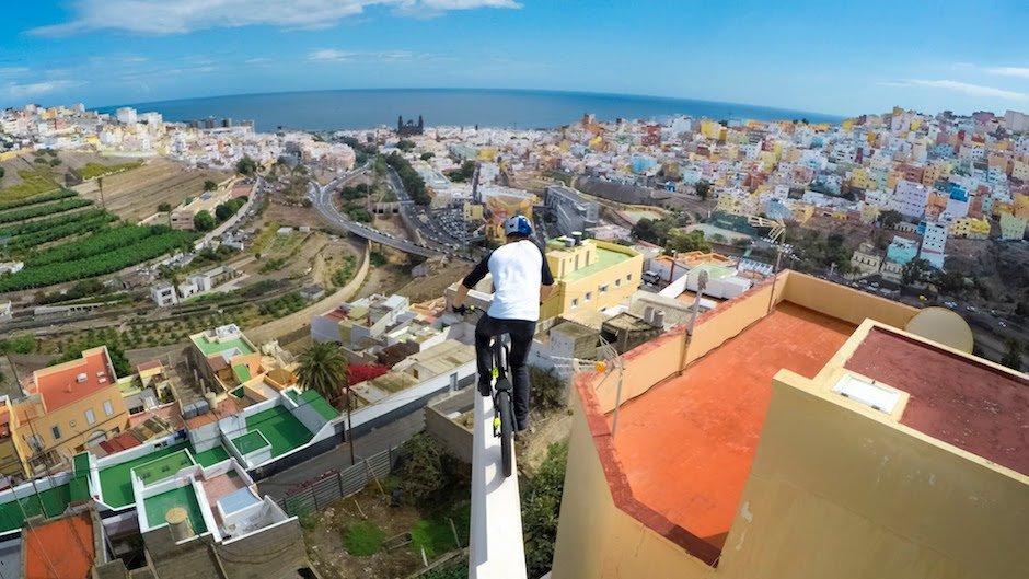 Danny MacAskill erobert mit seinem Trial-Bike Gran Canaria Cascadia