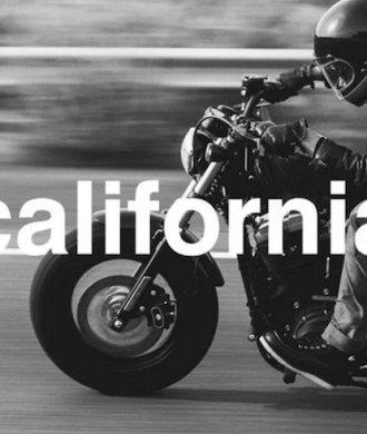 Kalifornien Motorrad BW schwarz weiß california Roadtrip Straße Freiheit