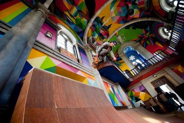 Kaos Temple santa barbara spanien skatepark fun extremsport half pipe kirche heiligenstätte