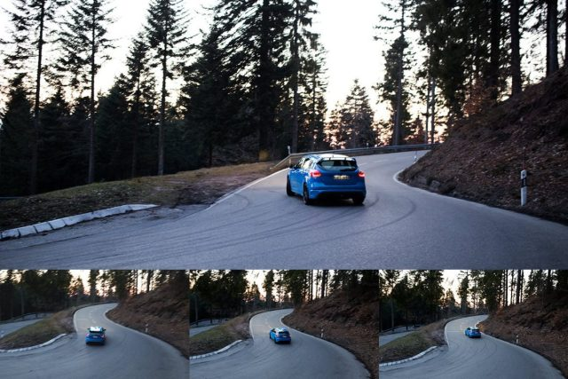 Ford Focus RS Drift Mode Landstraße Eifel