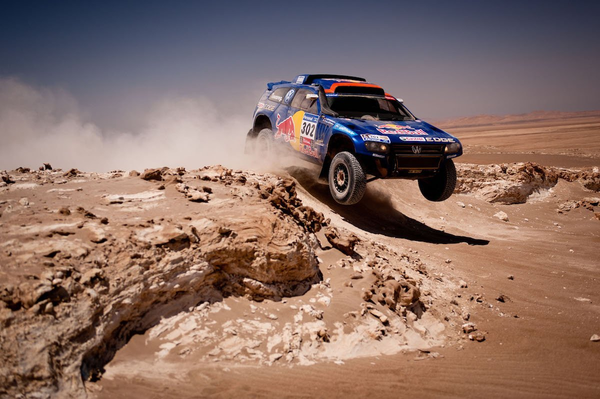 Nasser al Attiyah Timo Gottschalk 5th Stage Dakar Rallye Calama Iquique Chile Racing VW Touareg TDI