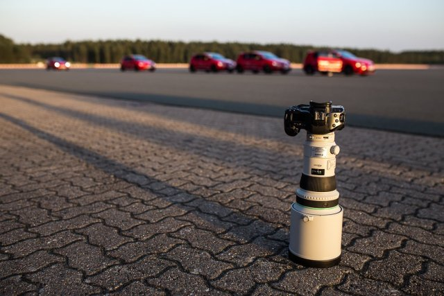 Canon EOS 6D Canon 400mm Objektiv VW Golf GTI Clubsport Ehra-Lessien Testgelände Asphalt