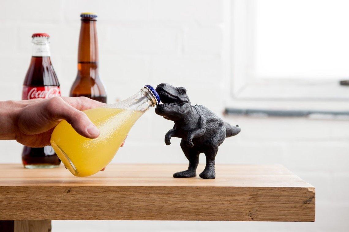 Dinosaur Bottle Opener Dinosaurier T-Rex Flaschenöffner Jurassic Park Orangenlimonade Coca Cola Bier Weihnachtsgeschenk Miniatur Statue