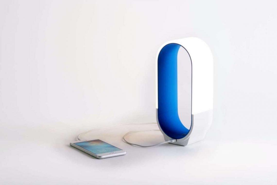 LED Lampe USB iPhone blau Licht