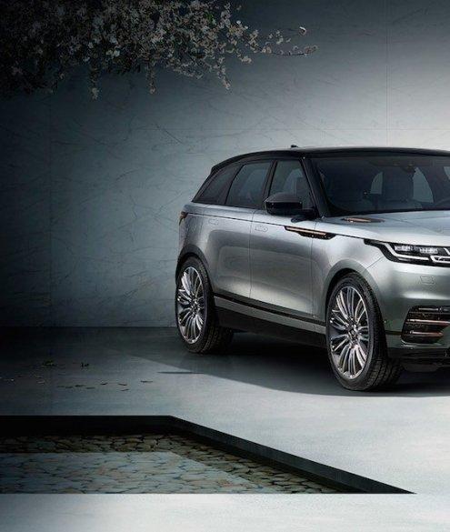 Range Rover Velar Totale Profil SUV Offroad Design Serienfahrzeug Puristisch