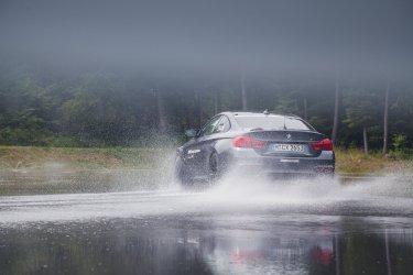 BMW M Intensive Training Bilster Berg BMW M4 F82 grau Drift Spritzwasser Heckleuchten