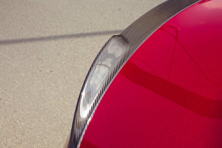 Alfa Romeo Giulia Quadrifoglio rot Carbonspoiler