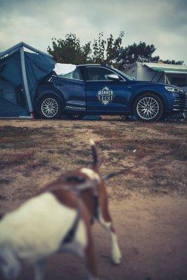 Hund Handtuch Audi SQ5 Heimplanet Zelt am Strand