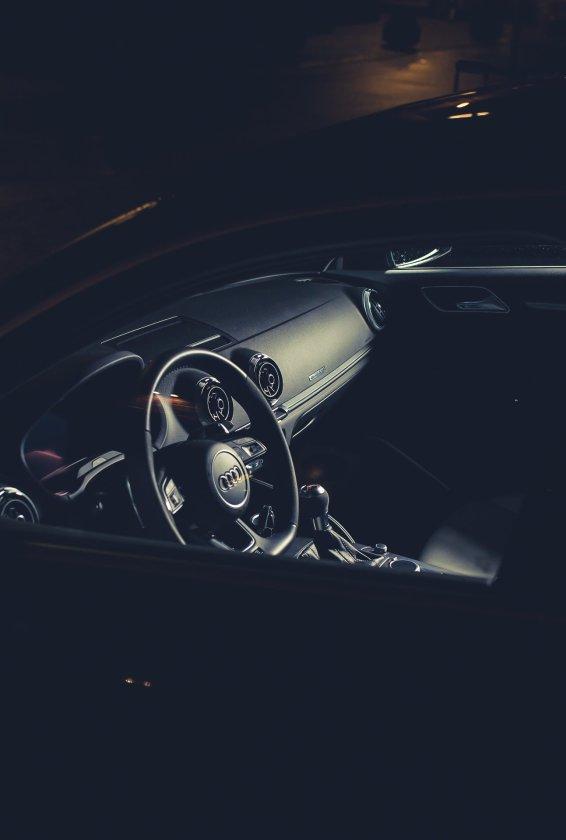 Lenkrad Auto Armaturenbrett Schatten Lichtquelle
