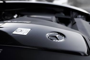 Mercedes-AMG GTS Motor Mercedes Stern Karbon Plakette
