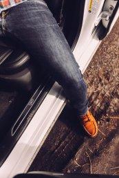 Cadillac Logo Schuh Jeans