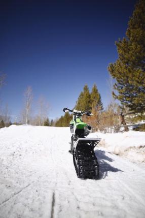 Kettenantrieb an einem Snow Bike