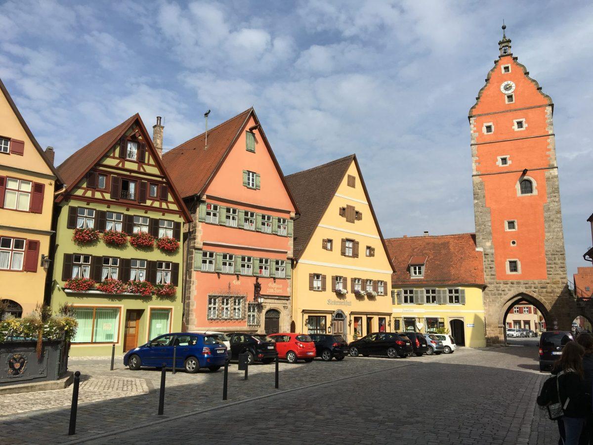 Wörnitz gate Dinkelsbühl during escorted motorhome tour Germany's Romantic Road