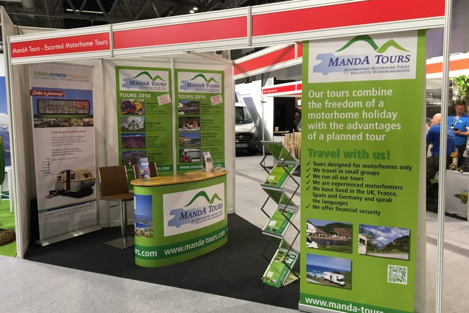Stand at the Motorhome & Caravan Show 2017