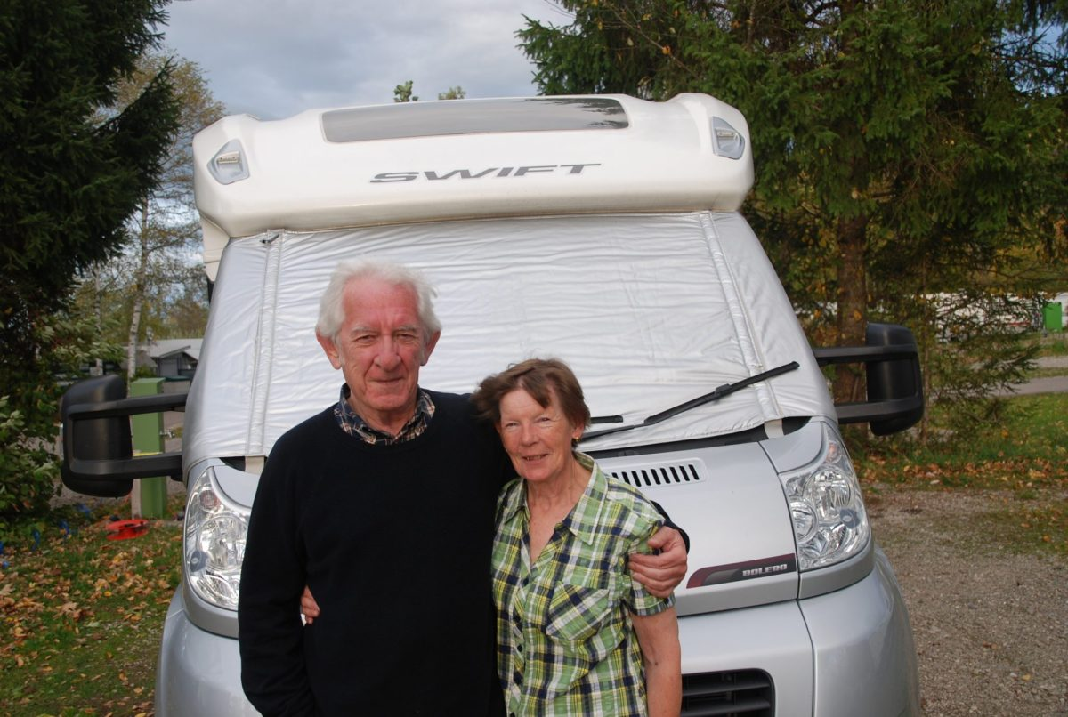 Customers Sue & Howard during our escorted motorhome tour Germany's Romantic Road 2017