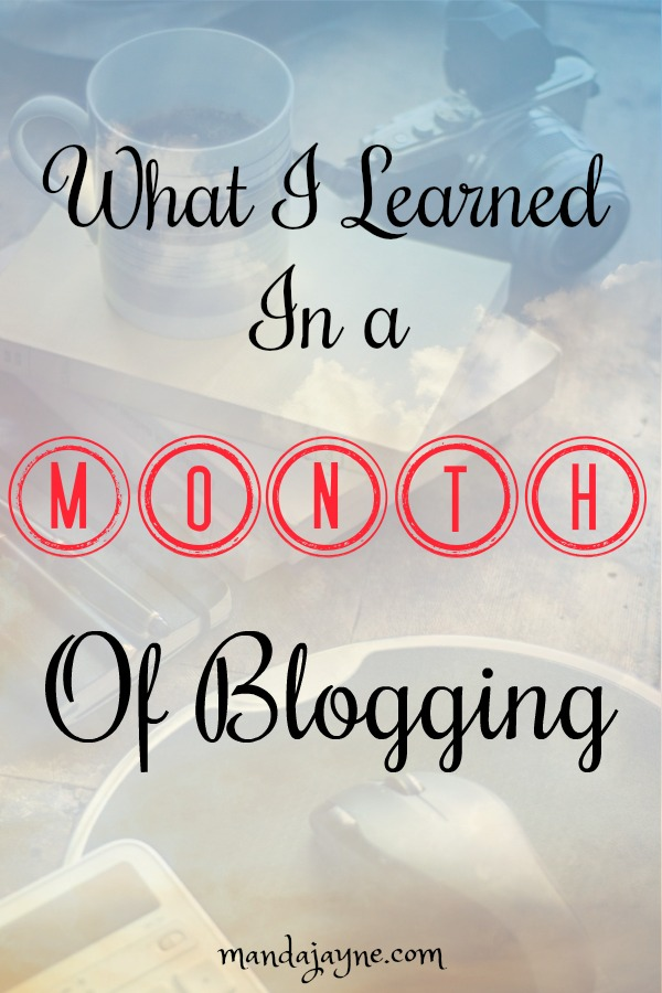 what i learned in one month of blogging