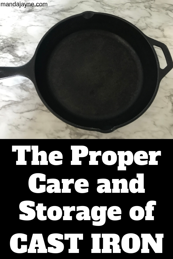Find out how to properly care for your cast iron. How to clean your cast iron easily and store it!