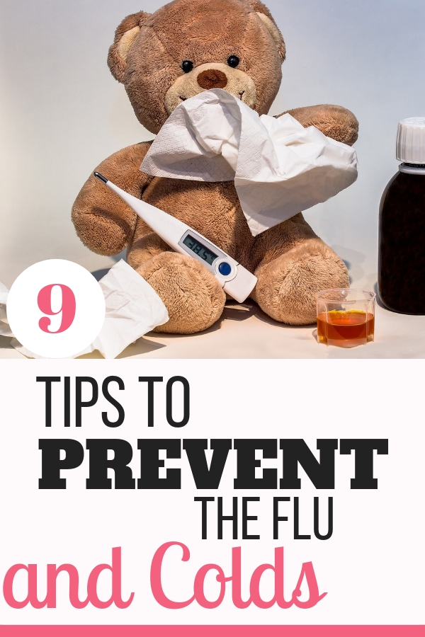 9 great tips to help prevent the flu and colds in your kids! Find some tactics to avoid getting these viruses!