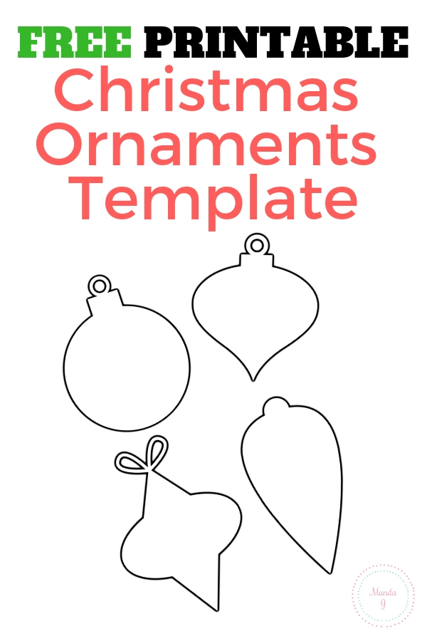 picture relating to Ornament Template Printable called Xmas Ornaments - Cost-free Template On your own Can Print! - Manda J