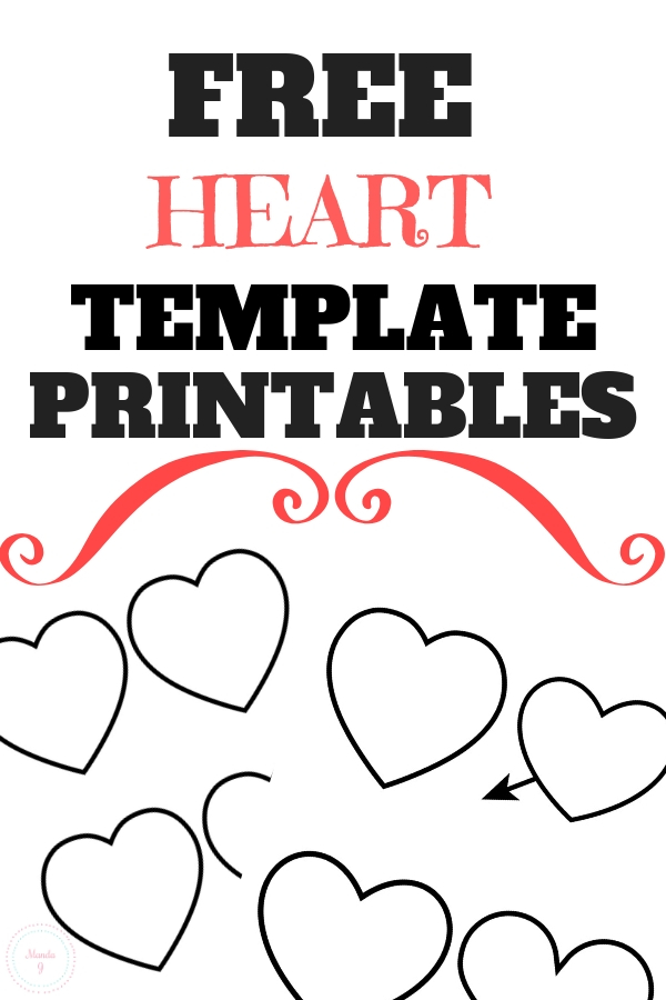 picture relating to Heart Template Printable named Free of charge Center Template Printables - Hearts Oneself Can Print! - Manda J