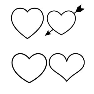graphic relating to Printable Heart Templates named Totally free Center Template Printables - Hearts On your own Can Print! - Manda J
