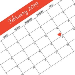 Free 2019 February Monthly Calendar
