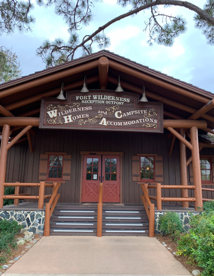 The Fort Wilderness Resort & Campground Reception Outpost.