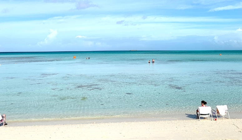 A beautiful day at Serenity Bay, the adult only beach at Castaway Cay.