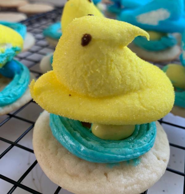 Peep Nest Easter Cookie