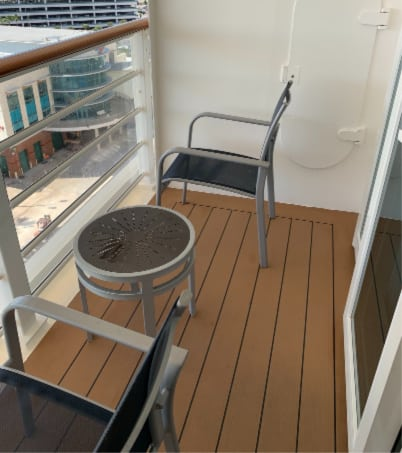 Disney Dream verandah and furniture