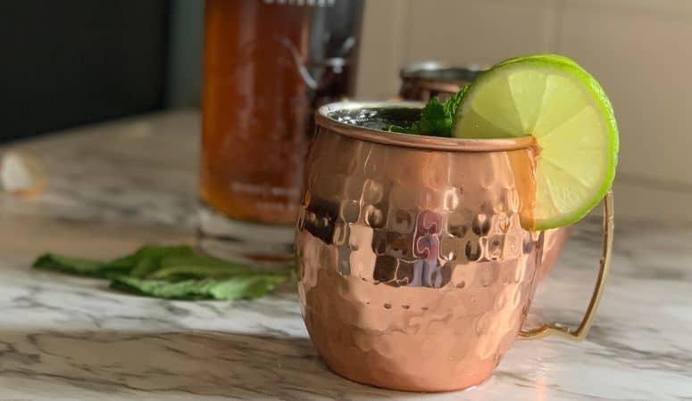 kentucky mule in a copper mug