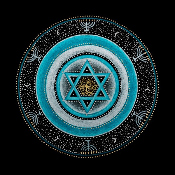 Judaism And Throat Chakra Mandala