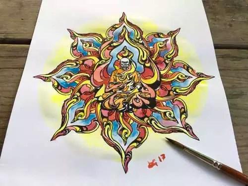 mandala-acquarello-burning-monk-totale