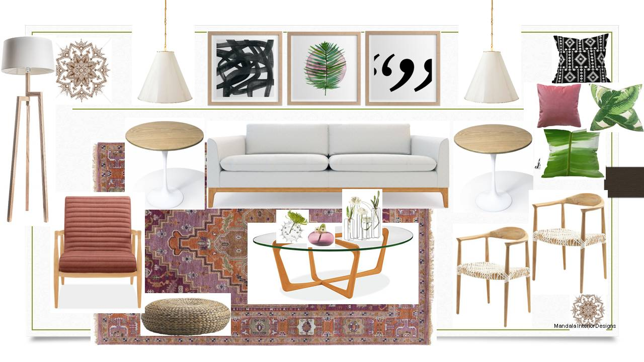 scandinavian style living room idea board - Interior Design Idea Board