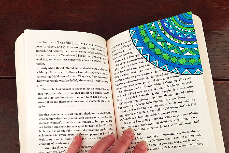 How to make a corner bookmark