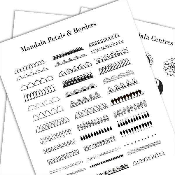 Mexico inspired mandala in black & white