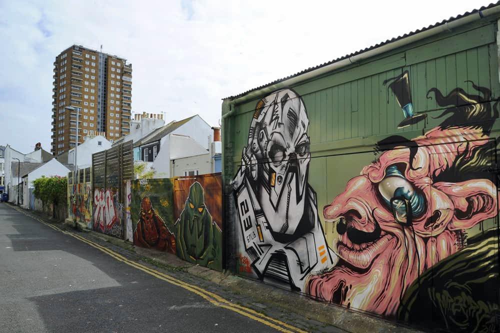 Street art in Trafalgar Lane, Brigton