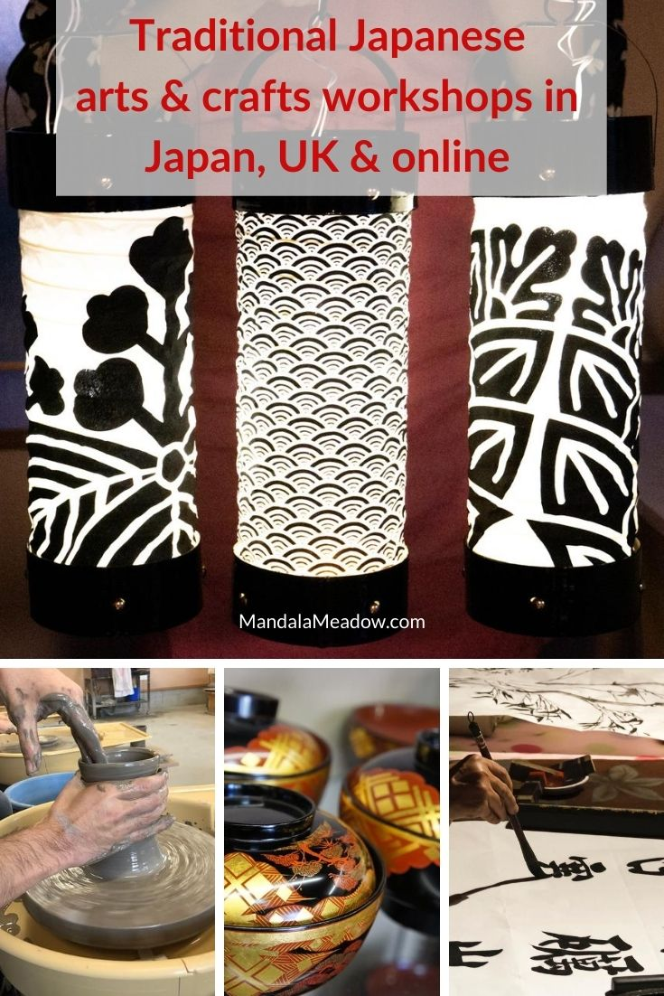 Japanese arts and crafts workshops in Japan, UK and online