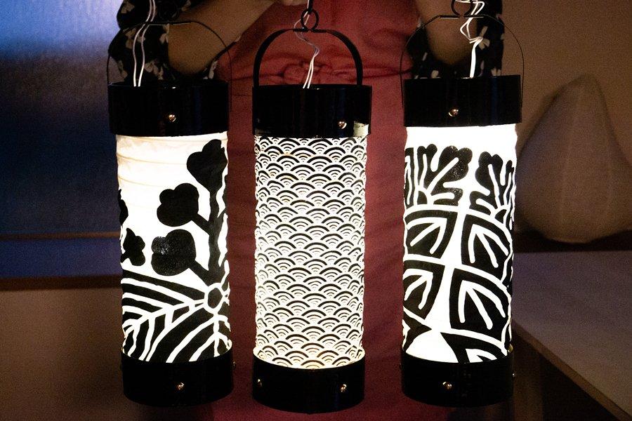 Japanese lantern workshop - finished product