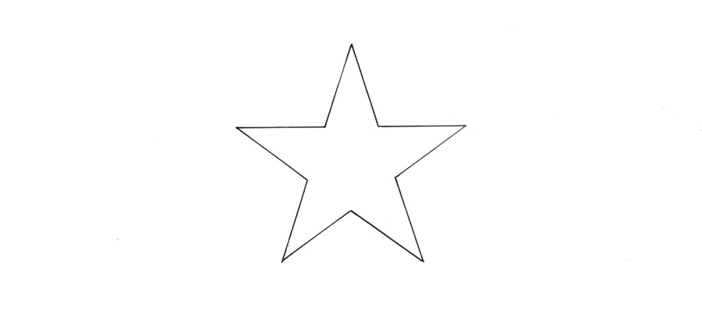 How to draw a 5 pointed star