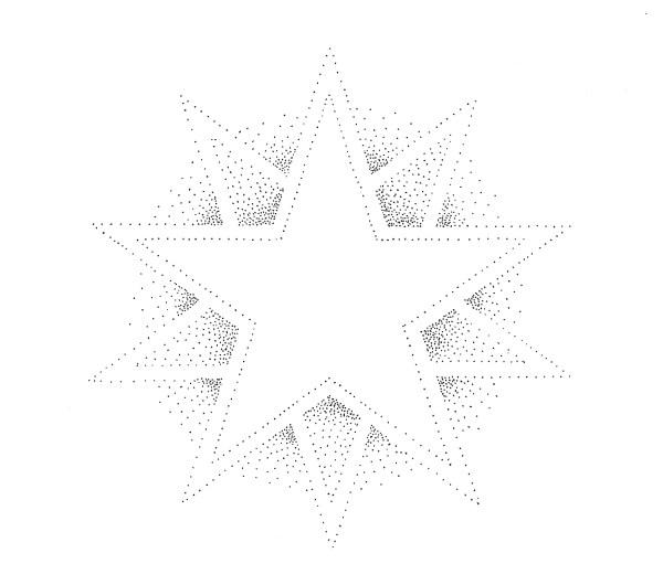 Mandala Star - stippled geometric art