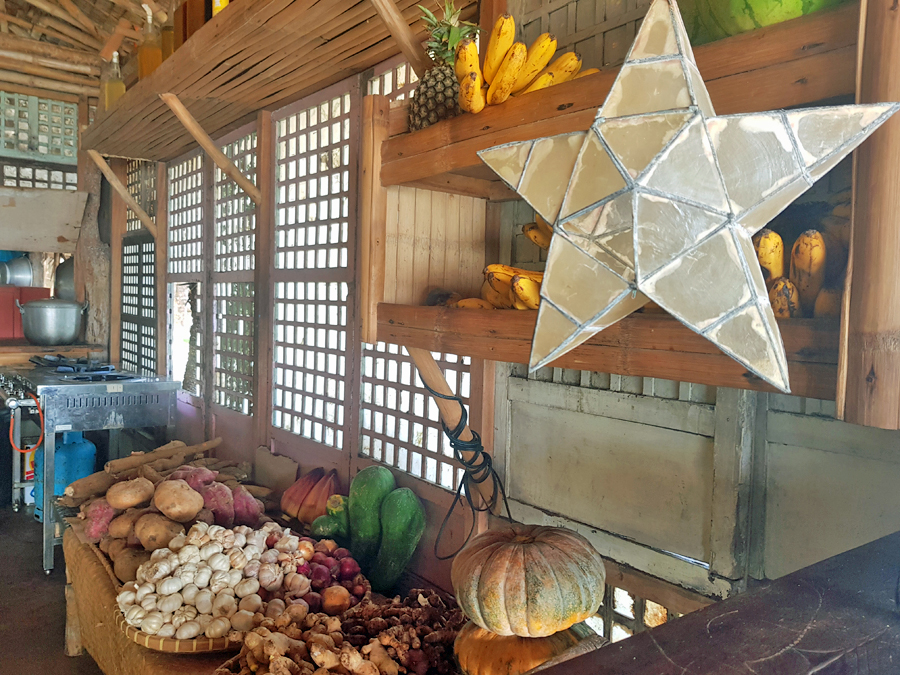 Capiz Star Lampshade in the Philippines