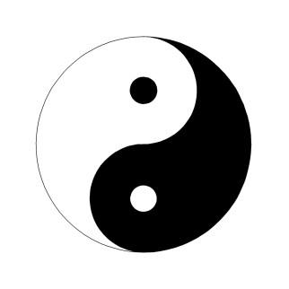 Yin Yang Black & White sq
