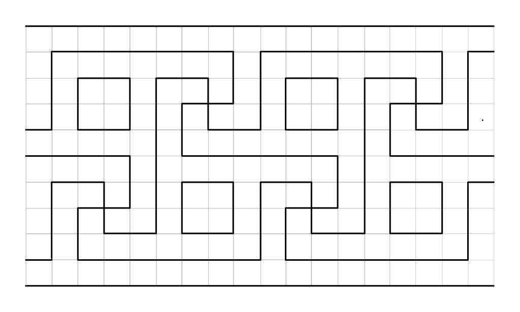 Ravenna Roman pattern | Meandering Roman border pattern