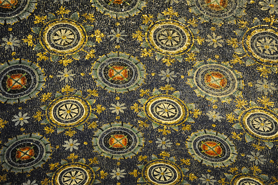 Ceiling detail of the Mausoleum of Galla Placidia