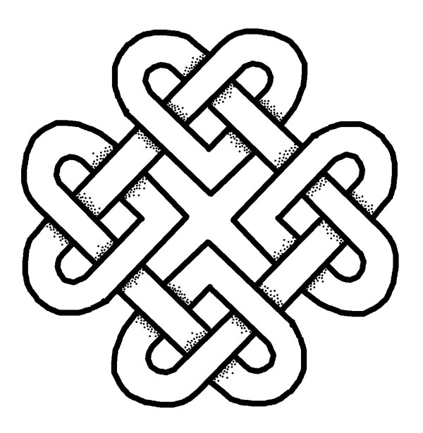 How to add shading to Celtic Knots