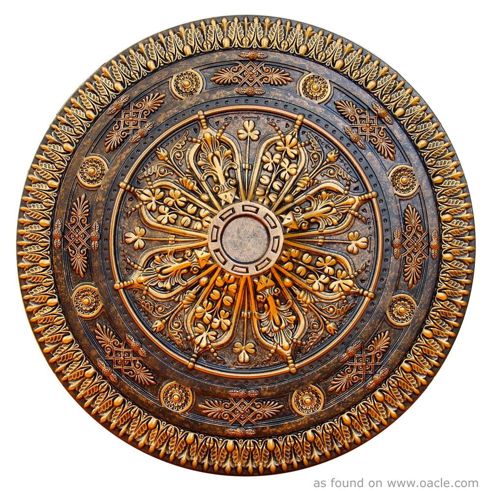 222  Gold Medallion Mandala  Mandala of the Day