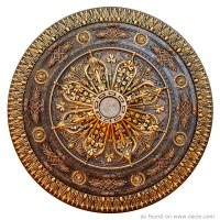 222  Gold Medallion Mandala  Mandala of the Day